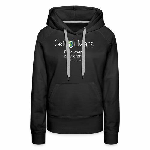 Getlost Maps Full White - Women's Premium Hoodie