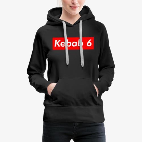 Kebab 6 box logo - Women's Premium Hoodie