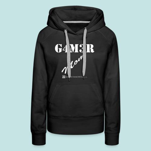 Gamer Mom (white) - Women's Premium Hoodie