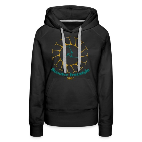 Circle of freestyle scooter - Women's Premium Hoodie