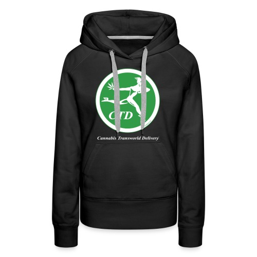 Cannabis Transworld Delivery - Green-White - Women's Premium Hoodie