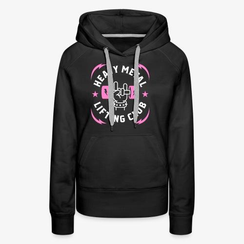Heavy Metal Lifting Club (Pink) - Women's Premium Hoodie