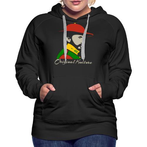Haile Selassie Rasta Print - Women's Premium Hoodie