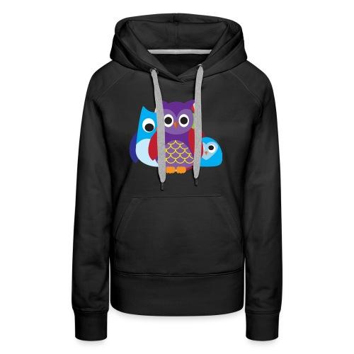 Cute Owls Eyes - Women's Premium Hoodie