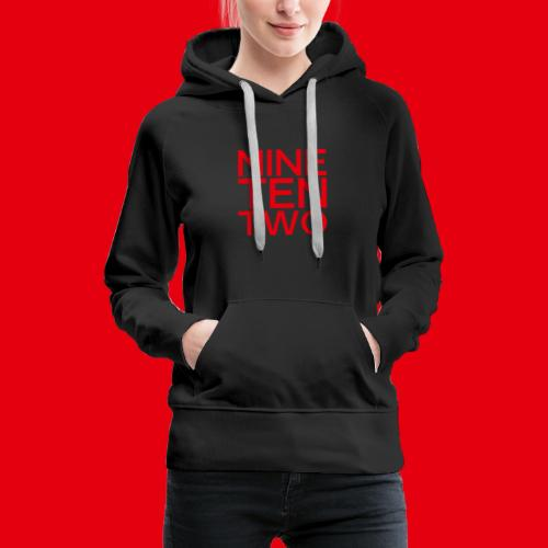 Red NineTenTwo Logo Text - Women's Premium Hoodie