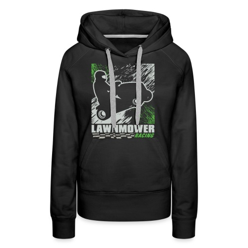 Lawnmower Racing Abstract - Women's Premium Hoodie