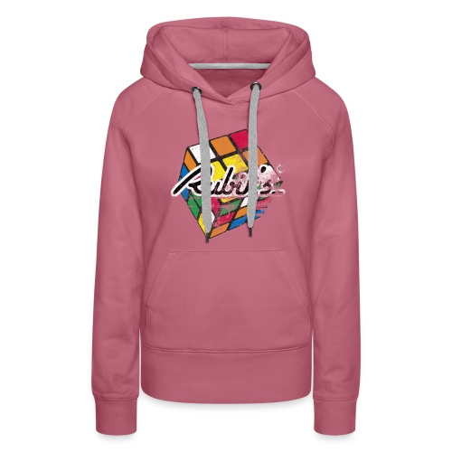 Rubik's Cube Distressed and Faded - Women's Premium Hoodie