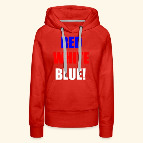 red white blue OCD - Women's Premium Hoodie