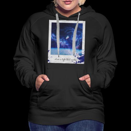 Polaroid Spaceman - Women's Premium Hoodie