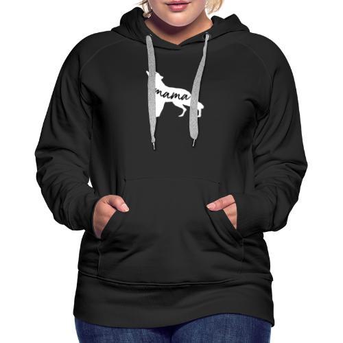 Mama Wolf silhouette - Women's Premium Hoodie