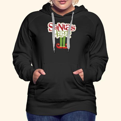 ELF FEET Santa's Helper Christmas tee - Women's Premium Hoodie