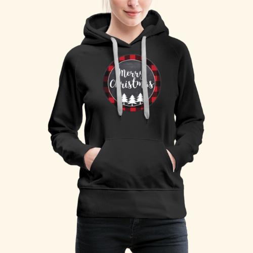 Merry Christmas Country Tee - Women's Premium Hoodie
