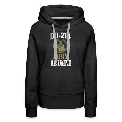 DD-214 ARMY ALUMNI - Women's Premium Hoodie