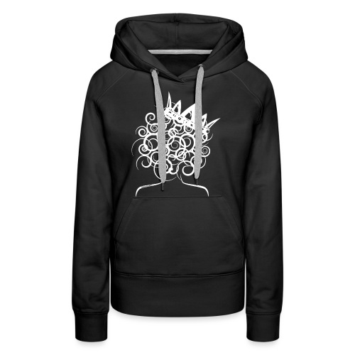 Curly Queen with Crown_ GlobalCouture Women's T-Sh - Women's Premium Hoodie