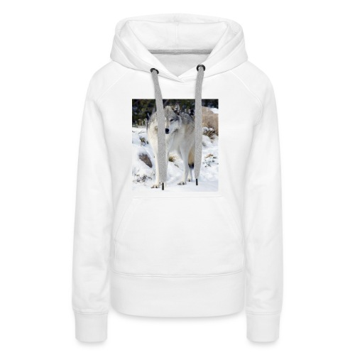 Canis lupus occidentalis - Women's Premium Hoodie
