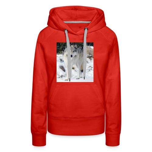 Canis lupus occidentalis - Women's Premium Hoodie