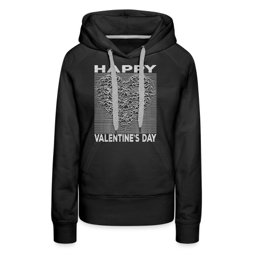 Love Lines Happy Valentines Day Heart - Women's Premium Hoodie