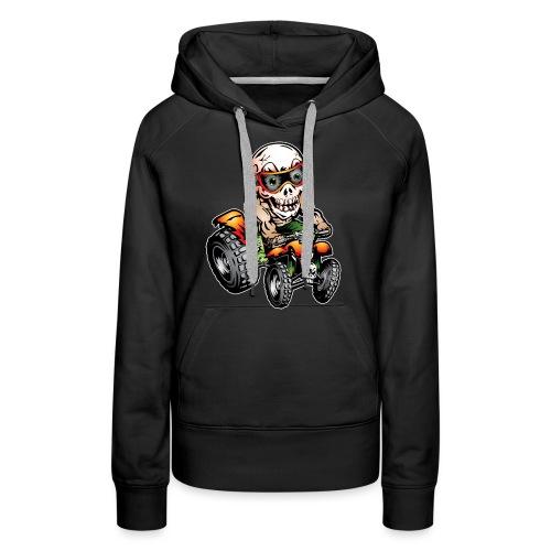 Off-Road ATV Skull Rider - Women's Premium Hoodie