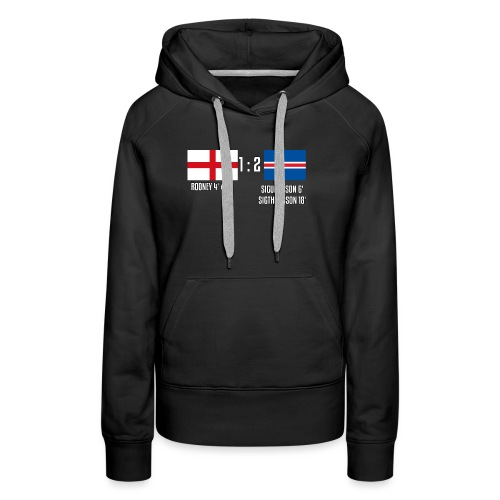 England 1-2 Iceland - Women's Premium Hoodie