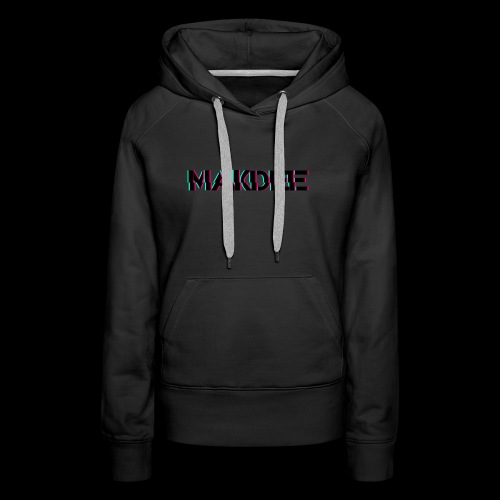 MakDee Glitch Logo - Women's Premium Hoodie