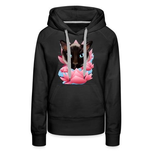 Cat from Land Of Lotus - Women's Premium Hoodie