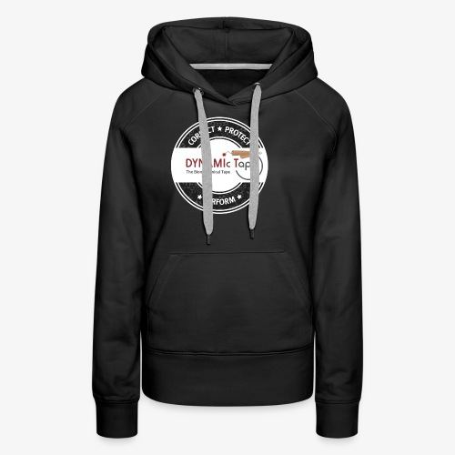 Dynamic Tape Correct-Protect-Perform White circle - Women's Premium Hoodie