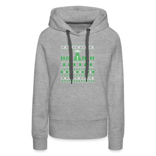 UFO ALIEN UGLY Christmas - Women's Premium Hoodie