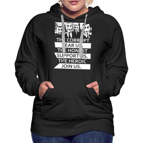 Anonymous 5 - Women's Premium Hoodie