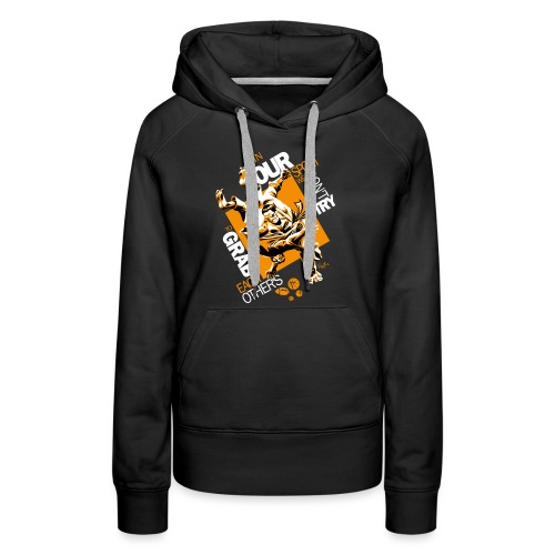 Judo Shirt BJJ Shirt Grab Design for dark shirts - Women's Premium Hoodie