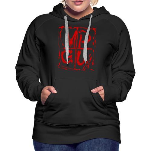 MPGU RED STROKE - Women's Premium Hoodie
