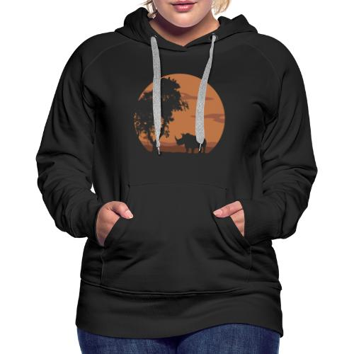 Rhino landscape - Women's Premium Hoodie