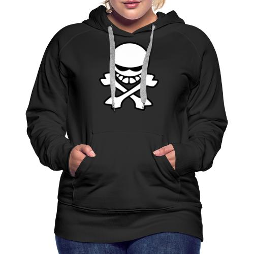 Cartoon Skull - Women's Premium Hoodie