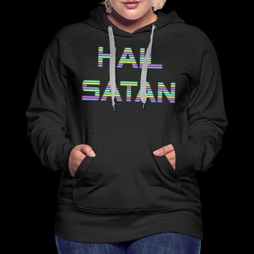 Hail Satan - Vaporwave - Women's Premium Hoodie