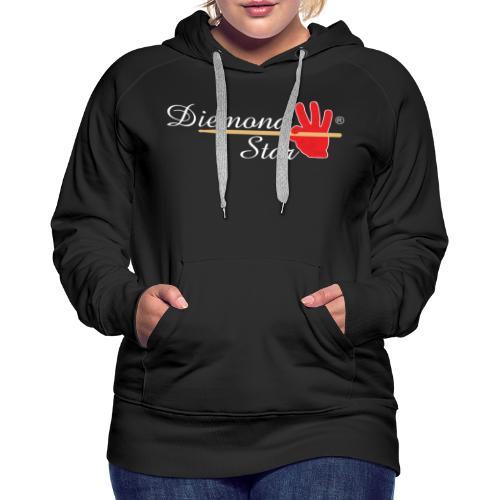 Diemond Star Logo White Font - Women's Premium Hoodie