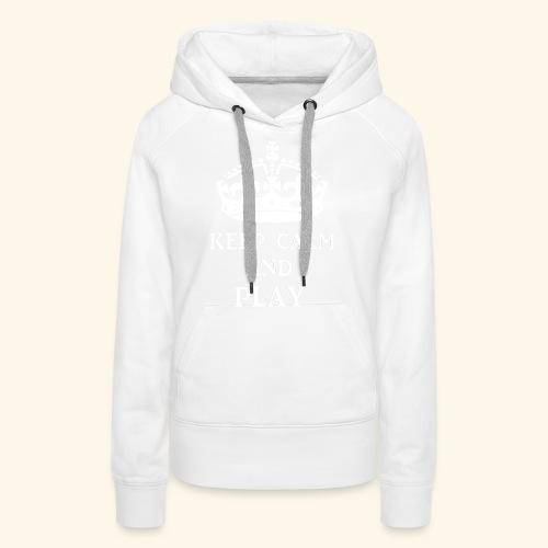 keepcalmplaywht - Women's Premium Hoodie