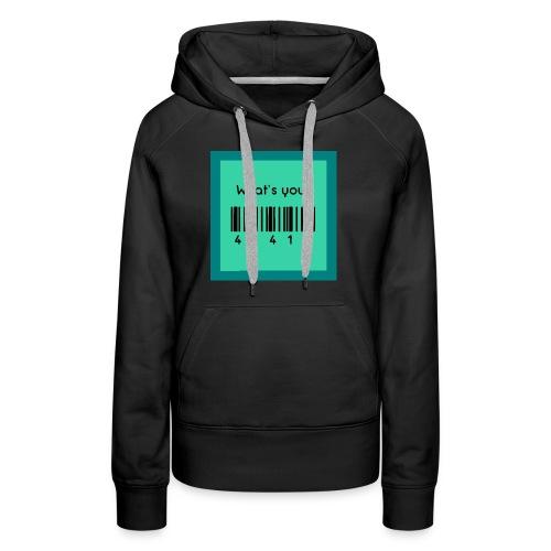 What's Your 41415 - Publix Associate Barcode Shirt - Women's Premium Hoodie