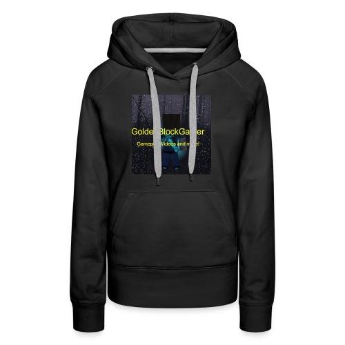 GoldenBlockGamer Tshirt - Women's Premium Hoodie