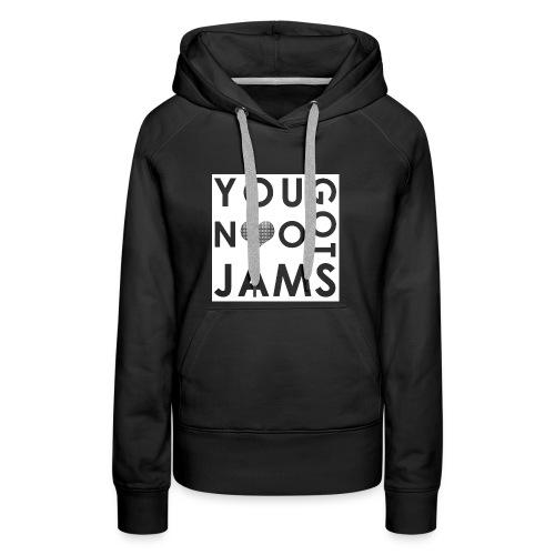 NO JAMS White Cutout - Women's Premium Hoodie