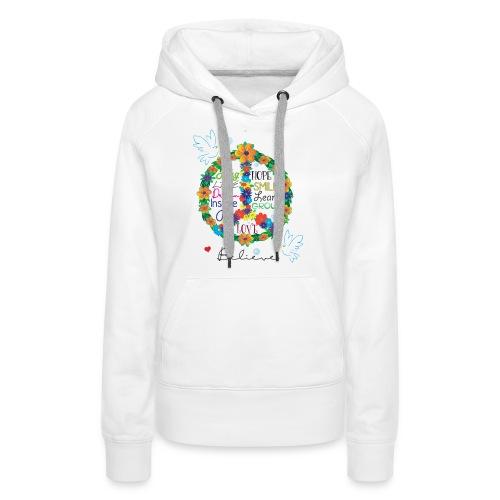Floral Peace - Women's Premium Hoodie