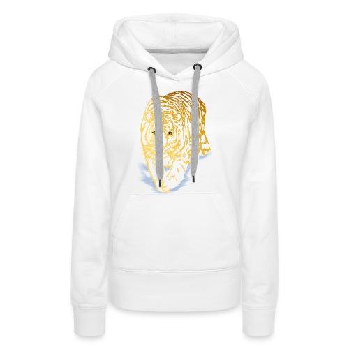 Golden Snow Tiger - Women's Premium Hoodie