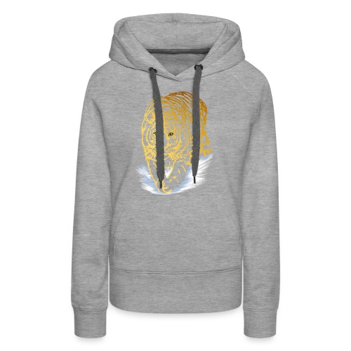 Golden Snow Tiger - Women's Premium Hoodie