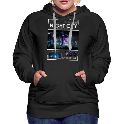 Night City Pacifica Skyline - Women's Premium Hoodie