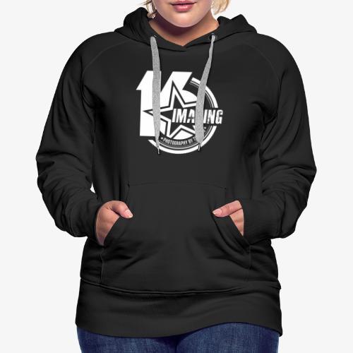 16 Badge White - Women's Premium Hoodie