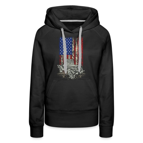 American Flag Wrangler - Women's Premium Hoodie