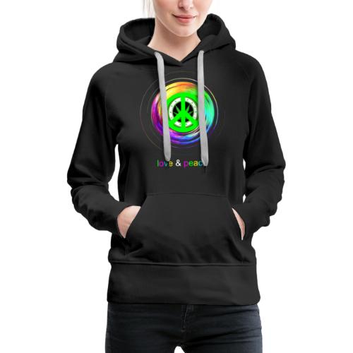 Love And Peace - Women's Premium Hoodie