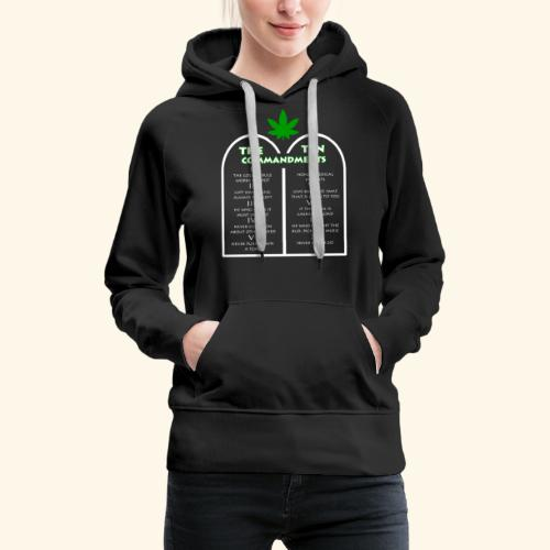 The Ten Commandments of cannabis - Women's Premium Hoodie