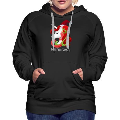 Unicorn Merry Christmas   Christmas Unicorn - Women's Premium Hoodie
