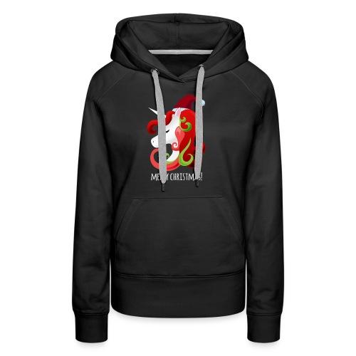 Unicorn Merry Christmas | Christmas Unicorn - Women's Premium Hoodie
