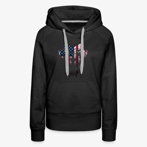 American Flag Lion Shirt - Women's Premium Hoodie
