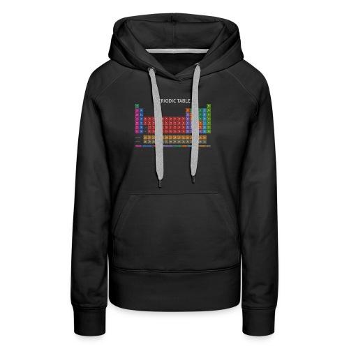 Periodic Table T-shirt (Dark) - Women's Premium Hoodie
